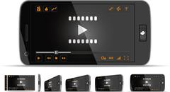 Smartphone Video Player - stock illustration