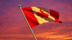 Canadian Flag Animation Stock Footage