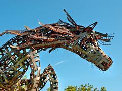 Metal horse Stock Photos