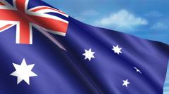 Australian Flag Animation Stock Footage