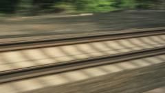 Moving Train Tracks Stock Footage