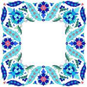 Ottoman motifs design series sixty seven Stock Illustration