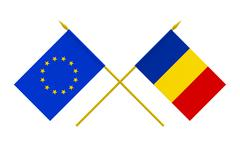 Stock Illustration of flags, romania and european union