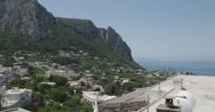 Jm1362-Capri Italy MountainSide Stock Footage