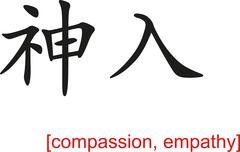 Chinese Sign for compassion, empathy Stock Illustration