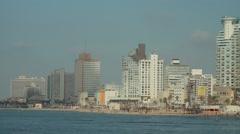 Tel Aviv coastline Stock Footage