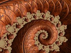 Copper fractal - stock illustration