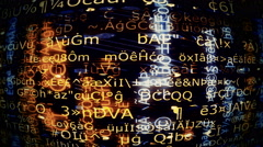 Data Screen Display, Video Background 1480 - HD, 4K Stock Footage