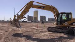 Hydraulic Excavotor Extends Boom Stock Footage