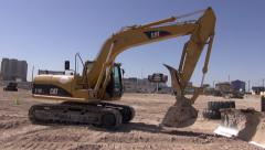 Hydraulic Excavator Turning Stock Footage