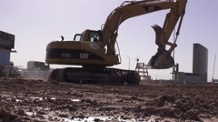 Hydraulic Excavator Driving Stock Footage