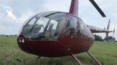 Hitting the camera on a helicopter Stock Footage