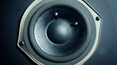 Close-up at moving sub-woofer. Stock Footage