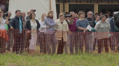 spectators in the open field - stock footage