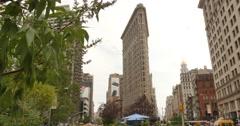 4K Flatiron Building Establishing Shot Stock Footage