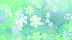 Stock Video Footage of Bright Flowers Green hue Retro Loop