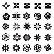 flower vector set - stock illustration