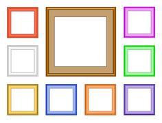 modern frame-square - stock illustration