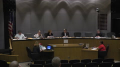 Small city council consensus wide shot Stock Footage