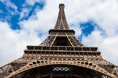 "the eiffel tower in paris - france "" tour eiffel "" - stock photo"