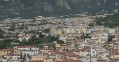 Jm1347-Sorrento Italy Hillside Medium2 Stock Footage