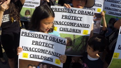 #8 protest rally for immigrant children at the White House in Washington, DC Stock Footage