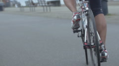 Cinematic biker's legs Stock Footage