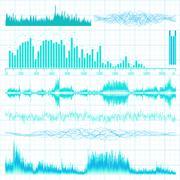 Stock Illustration of Sound waves set. Music background. EPS 10