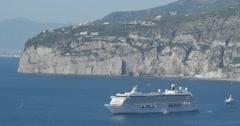 Jm1344-Sorrento Italy CruiseShip Stock Footage