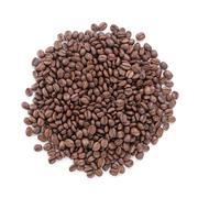 heap of freshly roasted arabica coffee beans - stock photo