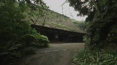 Old Yanohara House in Sankeien wide angle, non color graded Full HD (1920x1080) Stock Footage