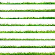 8 item set, small Grass. EPS 10 Stock Illustration
