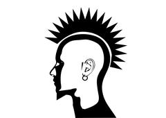 Stock Illustration of punk mohawk hair