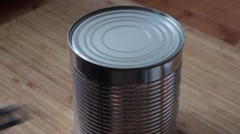 Opening a can Stock Footage