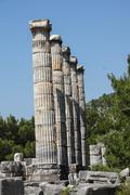 Stock Photo of ionic columns temple of athena