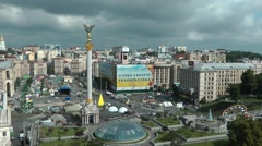 Maidan independence square from hotel ukraine Stock Footage