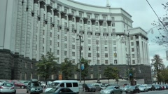 The Goverment building of Ukraine Stock Footage