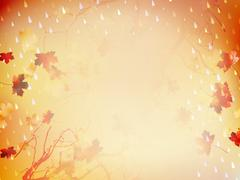 Autumnal Background with maple leaves. EPS 10 - stock illustration