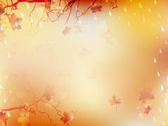 Autumnal Background with maple leaves. EPS 10 Stock Illustration