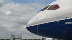 Boeing 787-9 Nose Stock Footage