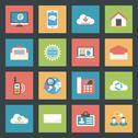 Communication icons set flat design Stock Illustration