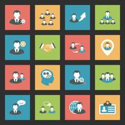 Interaction icons set Stock Illustration