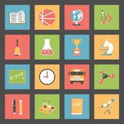 School flat icons set Piirros