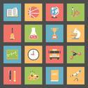 School flat icons set Stock Illustration