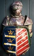 armour of the medieval knight - stock photo