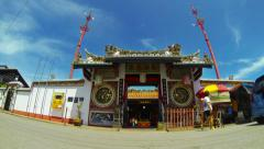 Time lapse of Cheng Hoon Teng temple in Melaka. Malaysia. Stock Footage