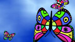 Butterflies Flying High in the Sky Stock Footage