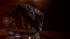 Clear Quartz Crystal Slab - stock footage