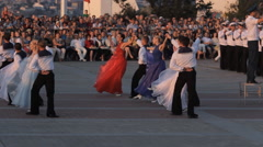 SEVASTOPOL, CRIMEA/RUSSIA – JUNE 14, 2014: parade of bands in Sevastopol Stock Footage