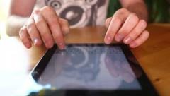 Writing email on Ipad - Tablet Pc Stock Footage